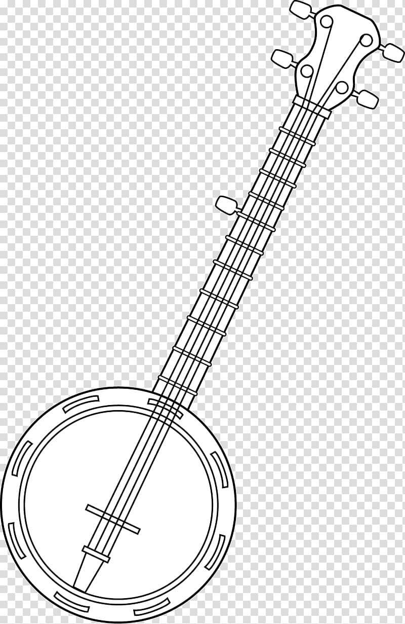 Banjo Musical Instruments Drawing Line art String.