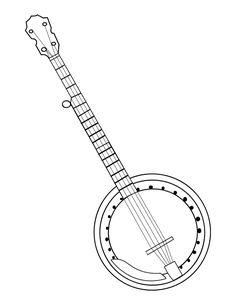 Banjo clipart simple, Banjo simple Transparent FREE for.