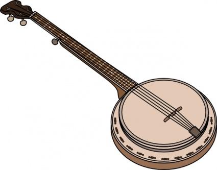 Banjo clip art free vector.