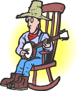 Banjo Player Clip Art.