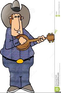 Banjo Player Clipart.