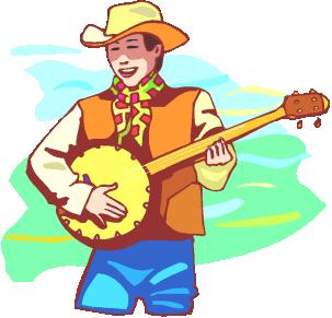 Banjo Player Cliparts.