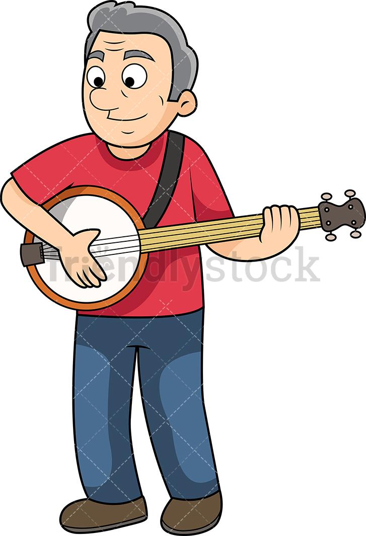 Old Man Playing The Banjo.