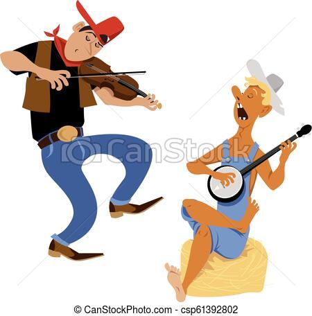Fiddler and banjo player.