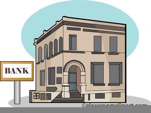 Bank Building Clipart.
