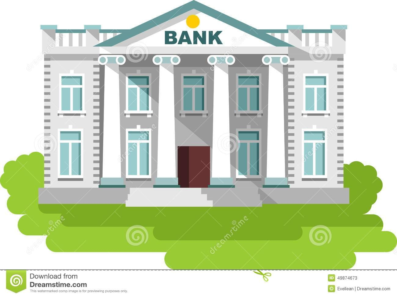 Bank building clipart » Clipart Station.