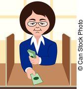 Bank Cashier Clipart.