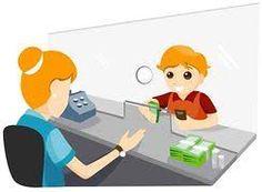 Cashier clipart bank employee, Cashier bank employee.