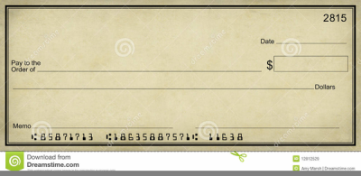 Clipart Blank Bank Check PNG.
