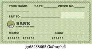 Bank Check Clip Art.