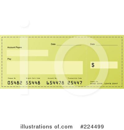 Bank Check Clipart #224499.