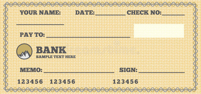 Blank Cheque Stock Illustrations.