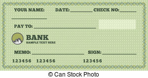 Bank Cheque Clipart.