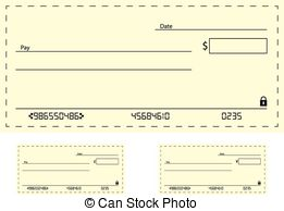Bank cheque Vector Clip Art Illustrations. 912 Bank cheque clipart.