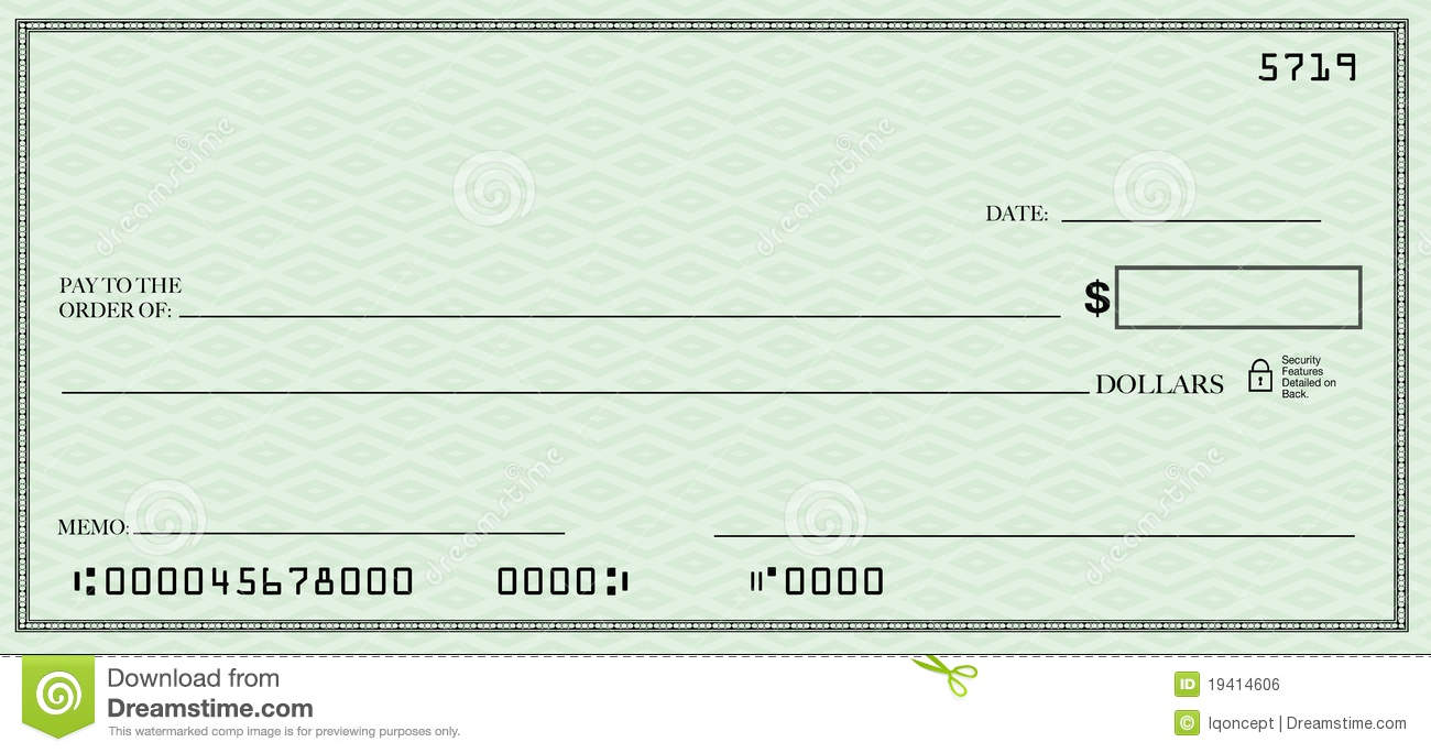 Blank Check Clip Art Clipartfest Free Printable Template For Kids.