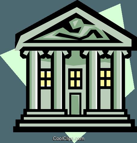 Banking symbol Royalty Free Vector Clip Art illustration.