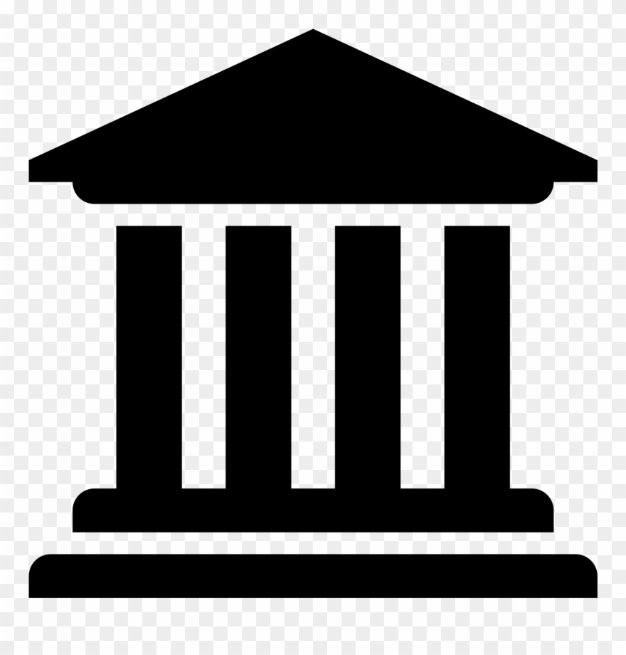 Banner Transparent Library Bank Clipart Black And White.