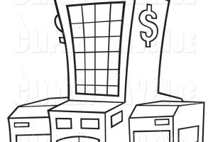 Bank clipart black and white 8 » Clipart Station.