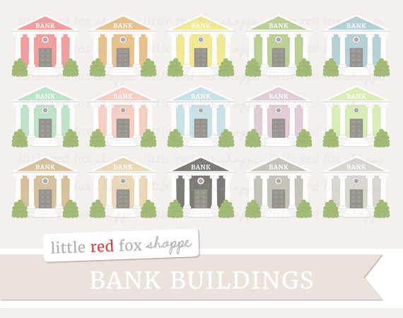 Bank Clipart Building Clip Art Banking Colonial Column Money.