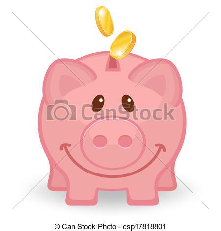 Similiar Cute Piggy Bank Coins Clip Art Keywords.