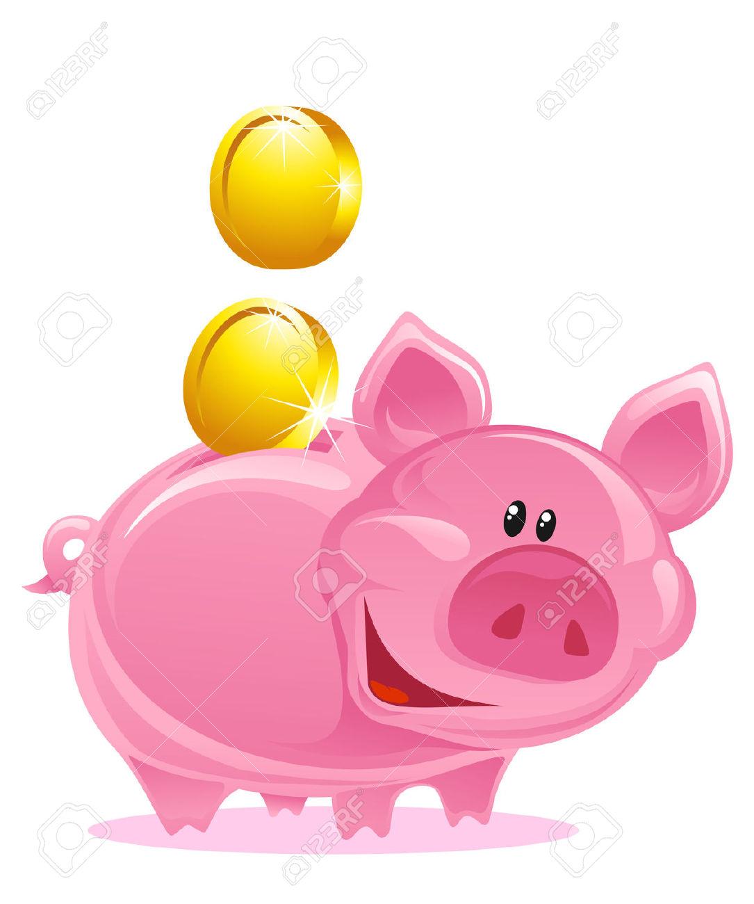 Piggy Bank Money Clipart.