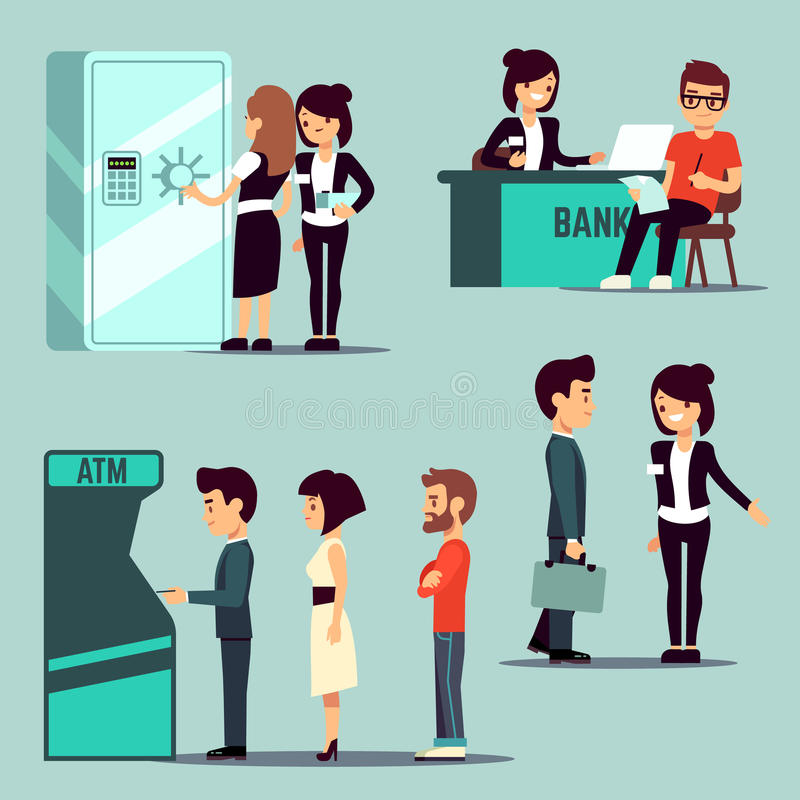 Collection of 14 free Bank clipart bank queue bill clipart dollar.