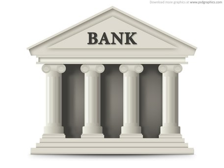 Bank building icon (PSD) Clipart Picture Free Download.