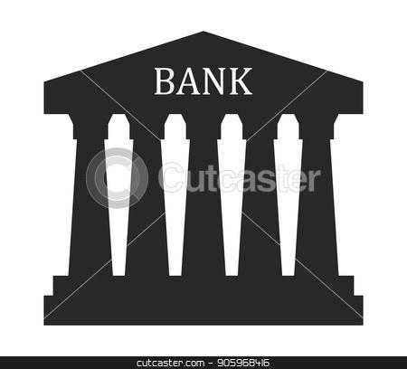 bank icon stock vector.