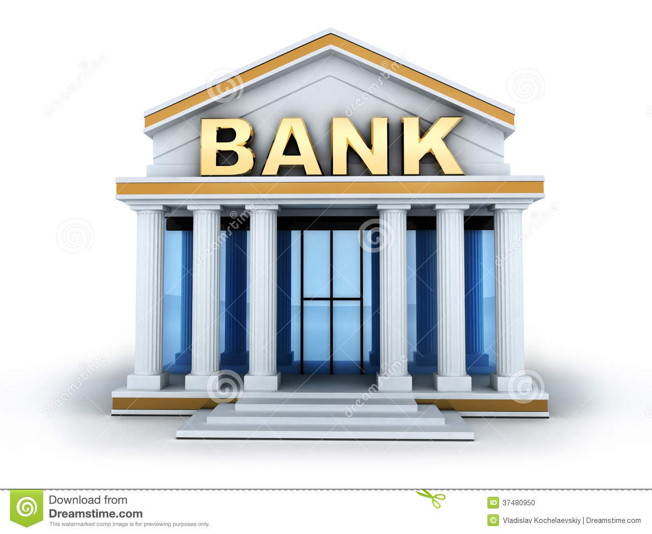 3509 Bank free clipart.