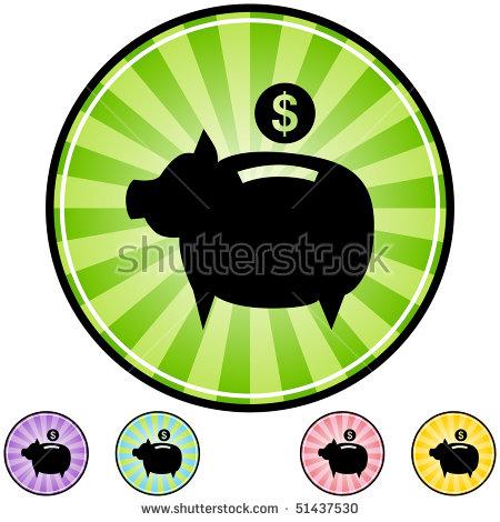 Piggy Bank Clip Art Stock Photos, Royalty.