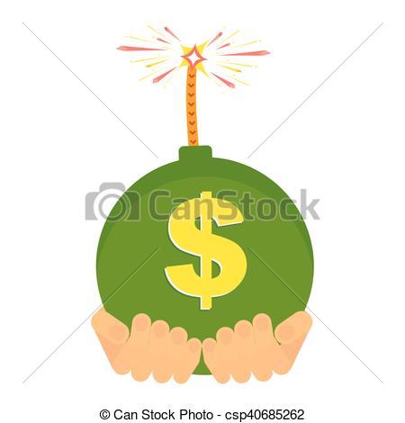 Clip Art Vector of vector bank loan.