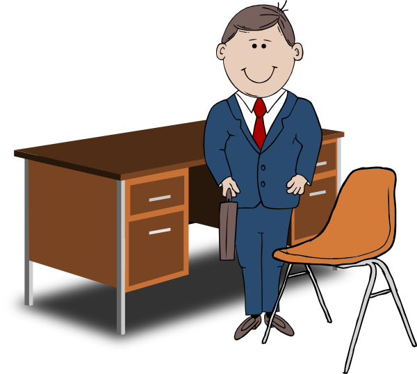 Bank Manager Clipart.