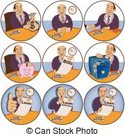 Bank manager Clip Art and Stock Illustrations. 28,921 Bank.