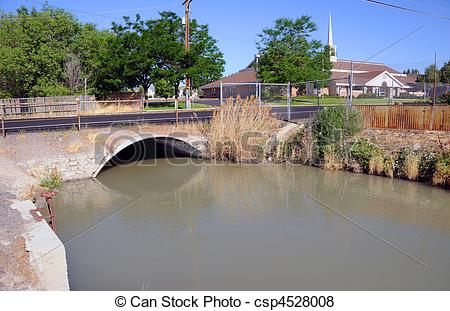 Pictures of Irrigation Canal of the Jordan River in Salt Lake.