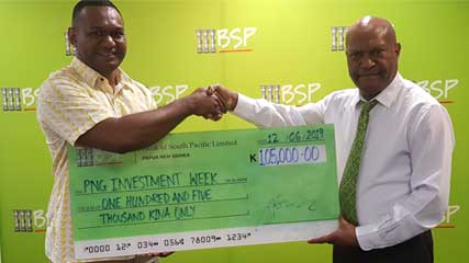 BSP supports PNG Investment Week with K105, 000.