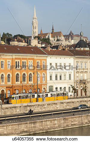 Stock Image of Hungary, Central Hungary, Budapest. A dawn view of.