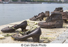 Stock Photo of The Shoes River Danube Budapest.