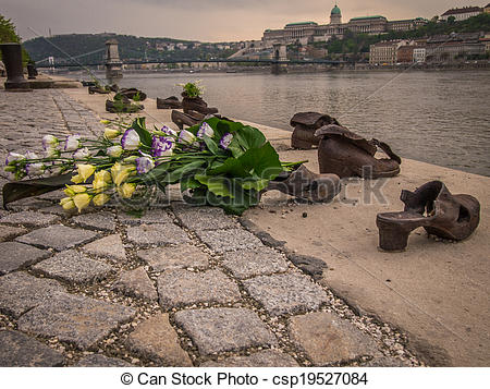 Pictures of The Shoes on the Danube Promenade is a war memorial.