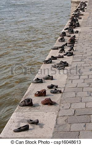 Stock Photography of Jewish Memorial Budapest.