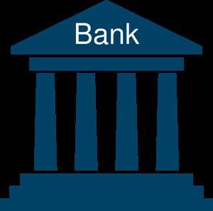 Bank Blue PNG, SVG Clip art for Web.