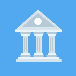 Bank Icon Flat.