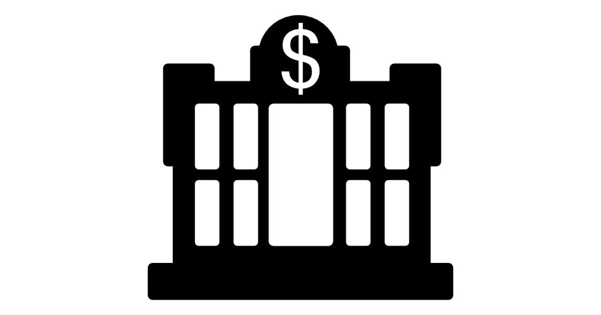 Dollar central bank building.