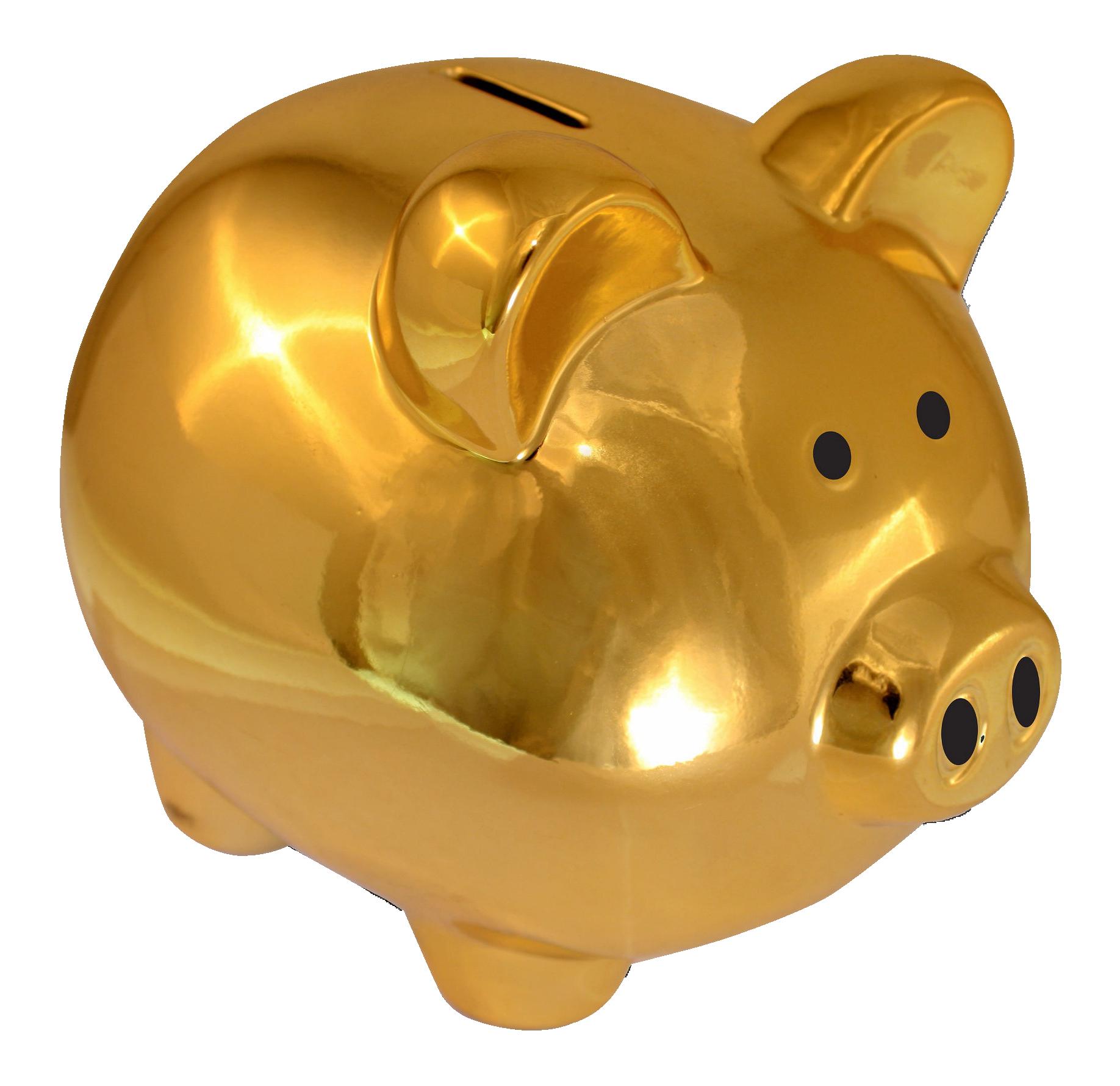 Piggy Bank PNG Transparent Image.