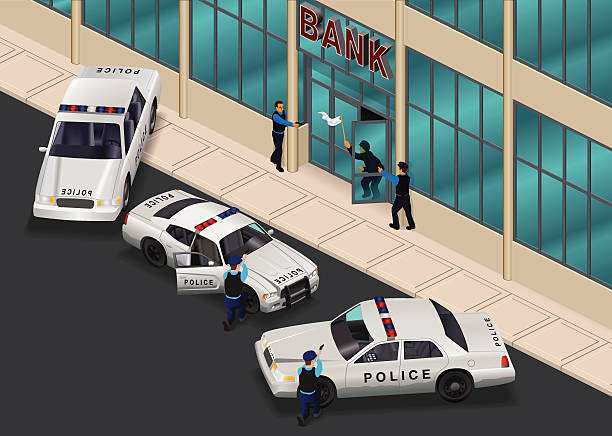 Best Bank Robbery Illustrations, Royalty.