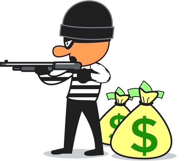 Clip Art Bank Check Account Robbery.