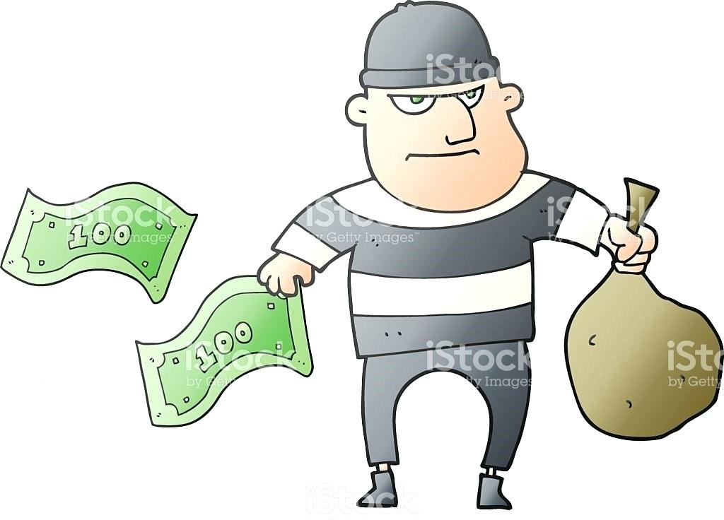 bank robber clipart.