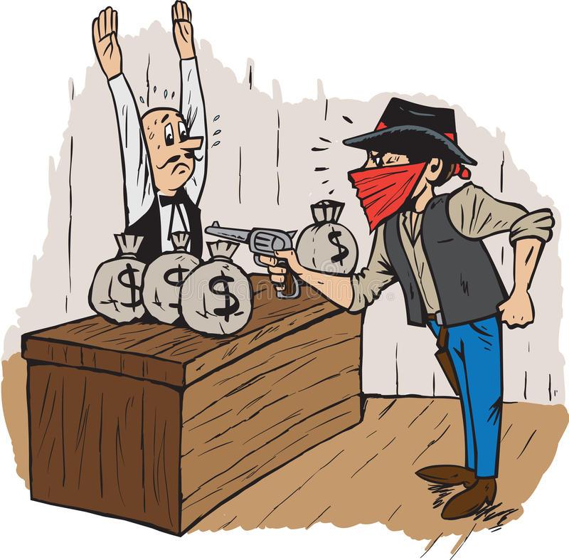 Bank Robbery Stock Illustrations.
