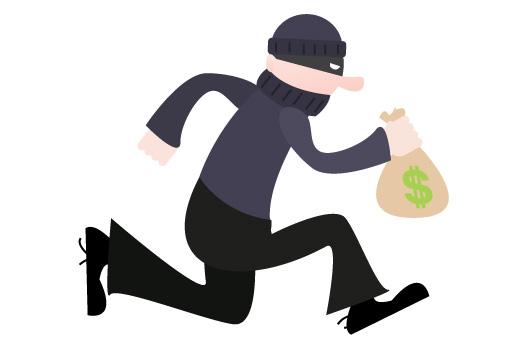 Cartoon Robber Clipart.