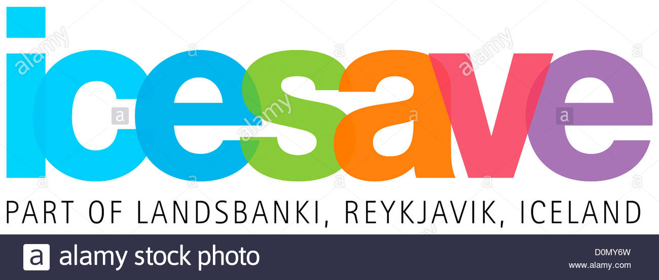 Logo Of The Icelandic Online Bank Icesave With Seat In Reykjavik.