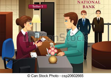 Bank teller Clip Art and Stock Illustrations. 771 Bank teller EPS.